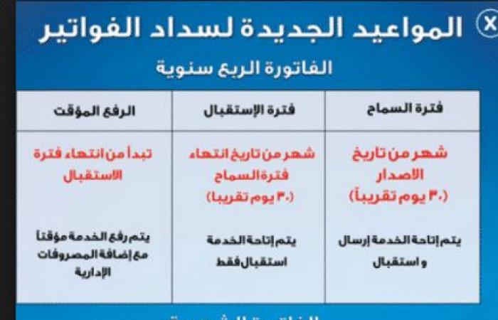استعلم عن فاتورة التليفون الأرضي شهر يناير 2019 عبر موقع المصرية للاتصالات billing.te.eg