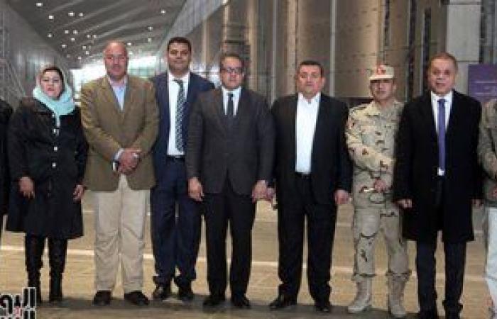 """وزير الآثار يرافق وفد """"إعلام البرلمان"""" لتفقد أعمال المتحف المصرى الكبير"""