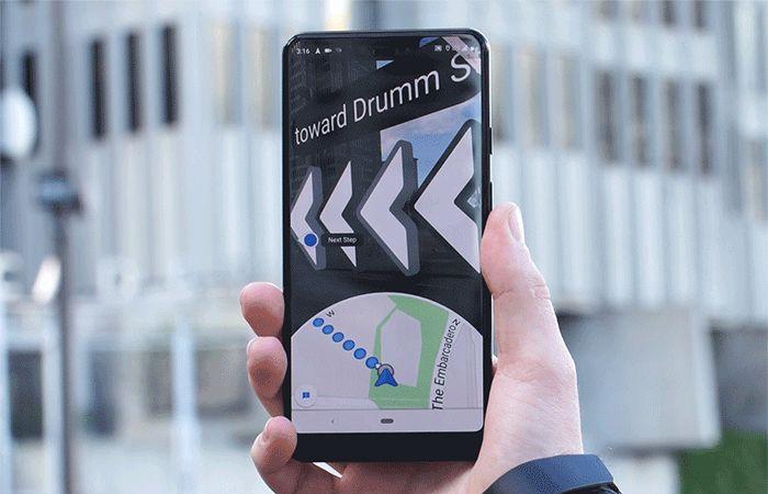 جوجل تختبر ميزة التنقل عبر الواقع المعزز ضمن الخرائط