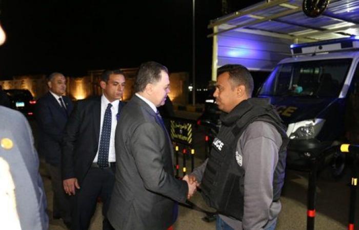 وزير الداخلية يتفقد قوات تأمين ملتقى الشباب العربي الأفريقي بأسوان.. صور