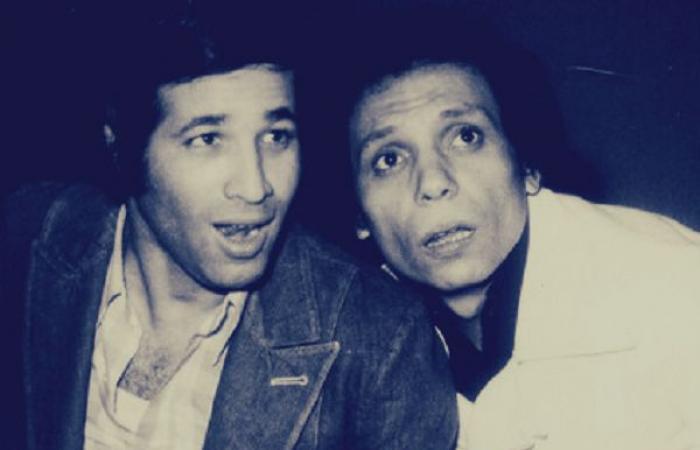 شاهد| أحمد السعدني ينشر صورة نادرة لوالده برفقة الزعيم وسعيد صالح