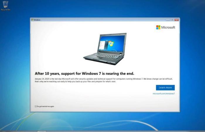 مايكروسوفت: تحديثات ويندوز 7 الأمنية أوشكت على النهاية