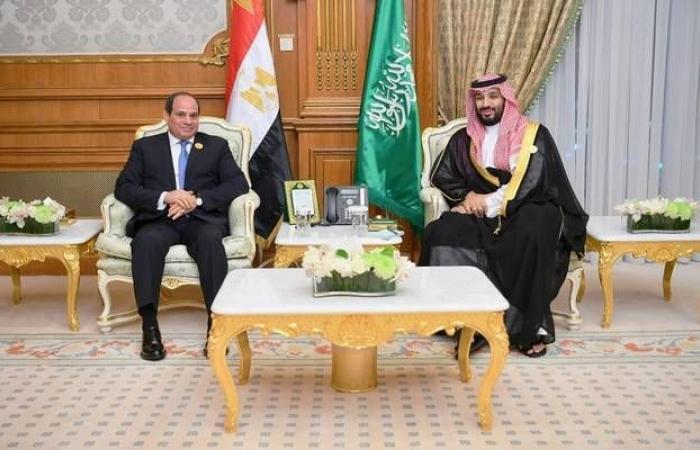 """السيسي يبحث مع ولي العهد السعودي """"فرص الاستثمار الواعدة"""""""