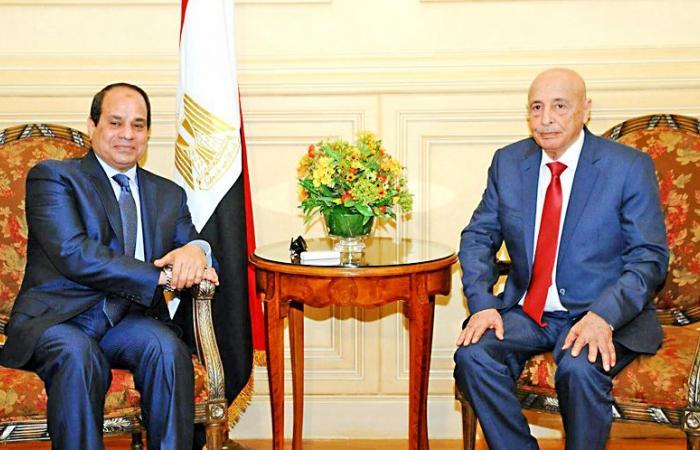 """السيسى لـ""""عقيلة صالح"""": موقف مصر لم ولن يتغير بدعم الجيش الوطني الليبي"""