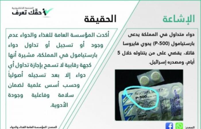 ما حقيقة وجود دواء قاتل في الأردن