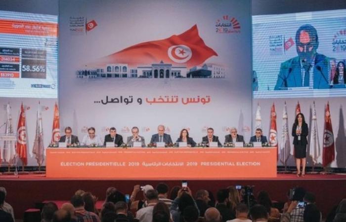 الهيئة العليا للانتخابات التونسية: جولة الإعادة بين المرشحين قيس سعيد ونبيل القروي