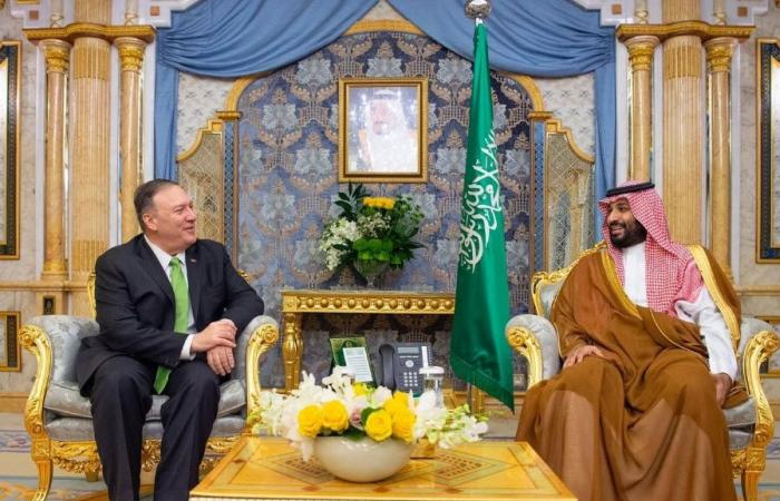 بالصور.. ولي عهد السعودية يلتقي وزير خارجية أمريكا