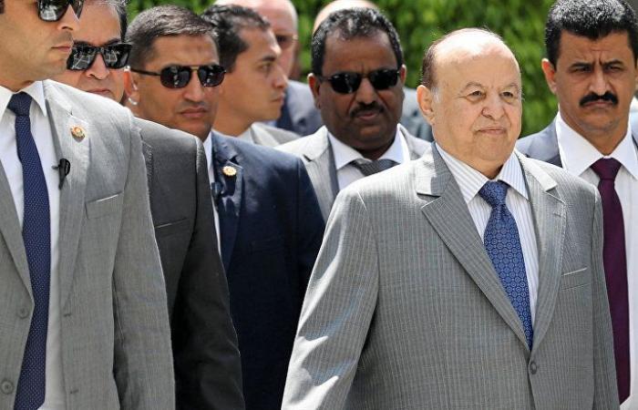 """هادي: صفحة """"الانقلاب"""" في اليمن ستطوى دون رجعة"""