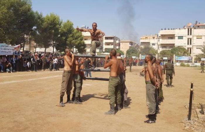 بالتزامن مع العملية التركية... المئات من أبناء العشائر ينضمون للشرطة السورية في الحسكة (صور)