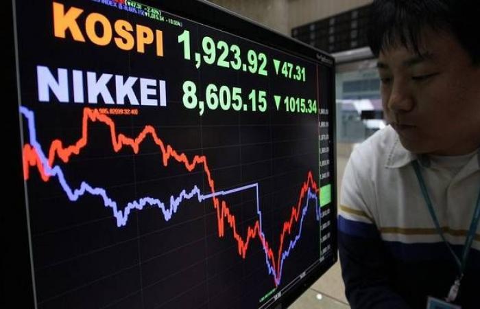 الأسهم اليابانية تتراجع بالختام بعد إعلان بيانات النمو الاقتصادي
