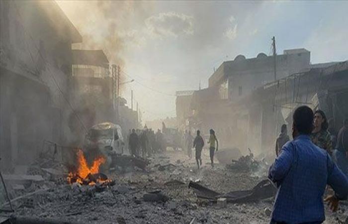 """بالفيديو : سوريا.. ارتفاع قتلى تفجير """"الباب"""" الإرهابي إلى 18 مدنيا"""