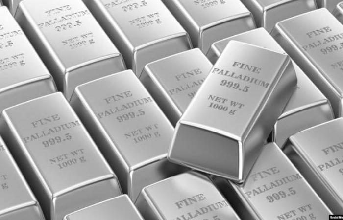 سعر البلاديوم يقفز 9% ويتجاوز 2500 دولار لأول مره بتاريخه