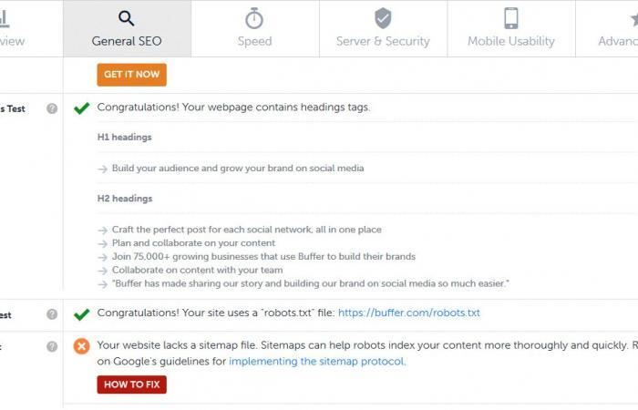 أداة مجانية لاختبار معايير تحسين محركات البحث في موقعك