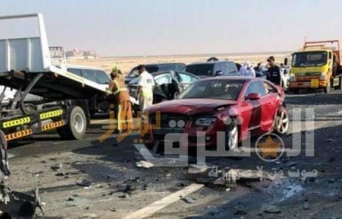 تَفحم ضابط طيار وإصابة 4 آخرون في حادث تصادم بطنطا