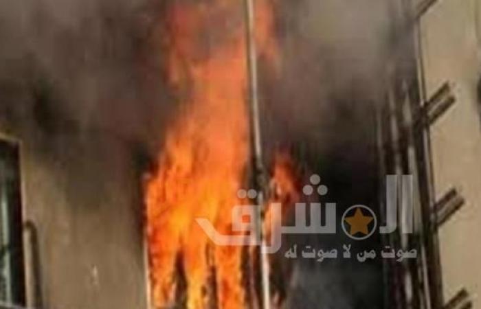 إصابة شخصين جراء حريق شونة خردة في المحلة