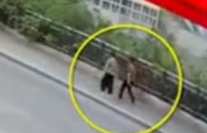 فيديو صادم .. لحظة اختفاء امرأتين على الطريق وسماع صراخ مدوٍ