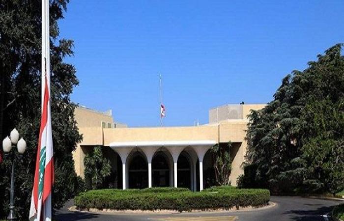 تنكيس العلم اللبناني في القصر الجمهوري ومقر الحكومة