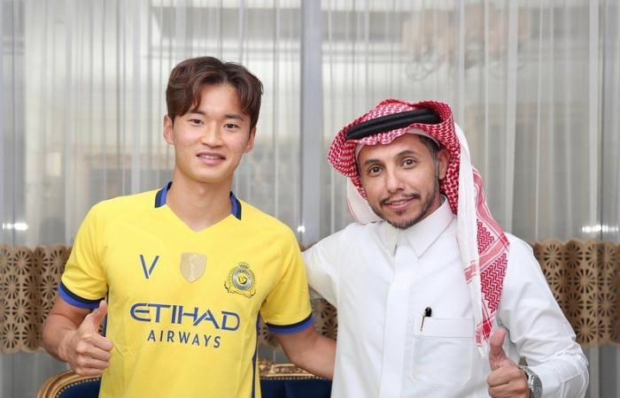 """رسمياً.. النصر يضم الكوري الجنوبي """" كيم"""" لموسمين"""