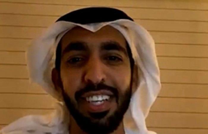 """""""الإماراتي سعودي"""".. """"الدخيل"""" و""""آل نهيان"""" مع شباب العرب في يوم الوطن 90"""