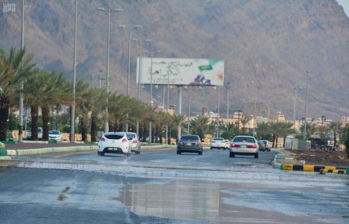 أمطار من متوسطة إلى غزيرة على محافظة محايل