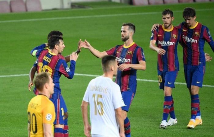 برشلونة يقسو على فيرينتسفاروش الهنغاري بخماسية.. ومانشستر يونايتد يُسقط سان جيرمان