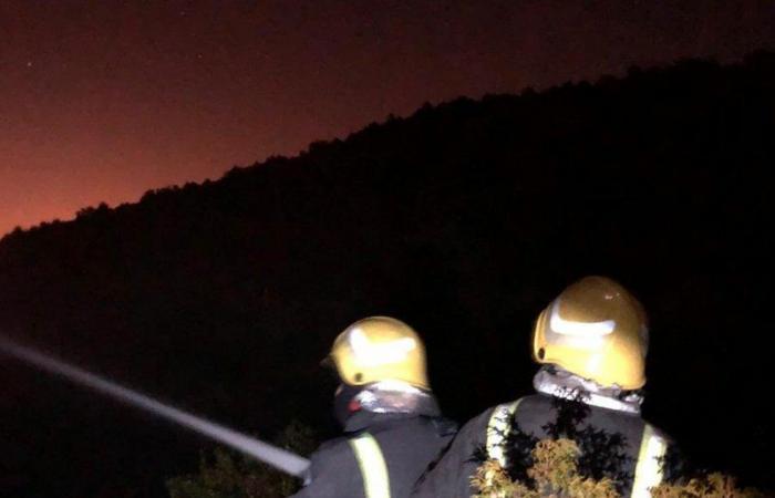 """مدني عسير يسيطر على """"حريق السودة"""".. ولا إصابات"""