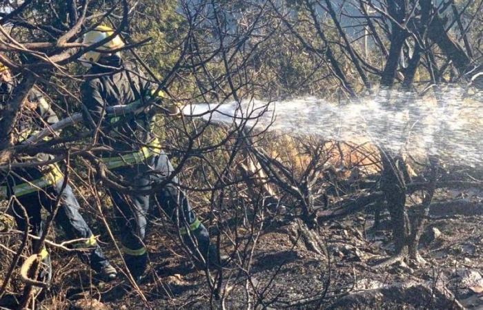 جاهزية رجال الدفاع المدني تحاصر حريقين ضخمين رغم وعورة التضاريس
