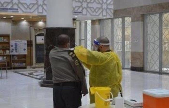 حملة تطعيم بمكتبة الحرم المكي للوقاية من الإنفلونزا الموسمية