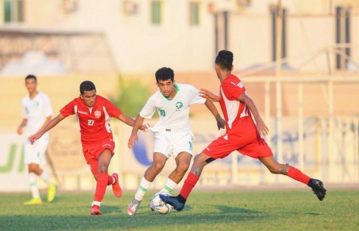 أخضر الناشئين يكتسح نظيره البحريني بثمانية أهداف