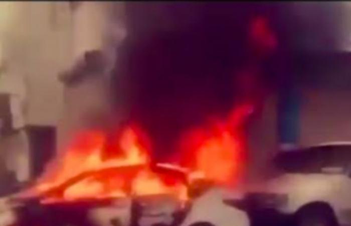 شاهد بطولة مواطن.. أنقذ محطة وقود بمحايل اشتعلت نيران مركبة داخلها