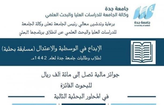 رئيس جامعة جدة يُدشن مسابقة بحثية عن الإبداع في الوسطية والاعتدال