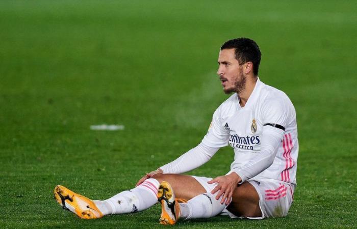 ريال مدريد.. الإصابة العضلية تبعد إيدين هازارد عن الفريق