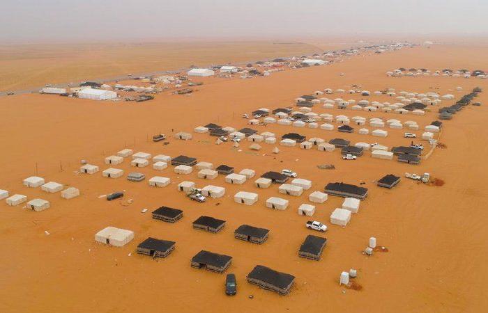 تحذيرات لمرتادي مهرجان الملك عبدالعزيز للإبل من أخطار الأمطار