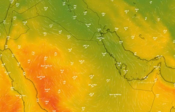 """كم ترتفع الحرارة؟.. """"الحصيني"""" يكشف توقعاته راسمًا """"خريطة برودة اليوم"""""""