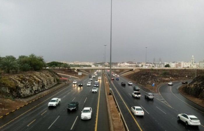 أمطار على المدينة المنورة وحائل وجبال عسير تكتسي البياض