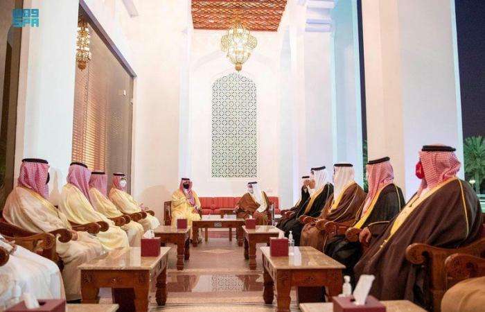 وزير الداخلية يلتقي ولي عهد مملكة البحرين