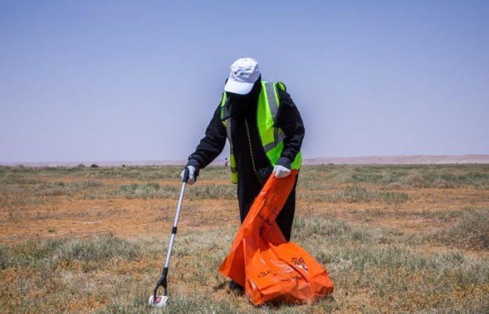 شاهد.. مبادرة للمحافظة على نظافة محمية الملك عبدالعزيز الملكية