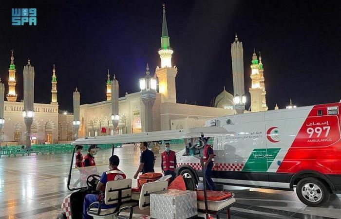 """""""هلال المدينة المنورة"""" يستقبل أكثر من 17 ألف مكالمة خلال ثلثي رمضان"""