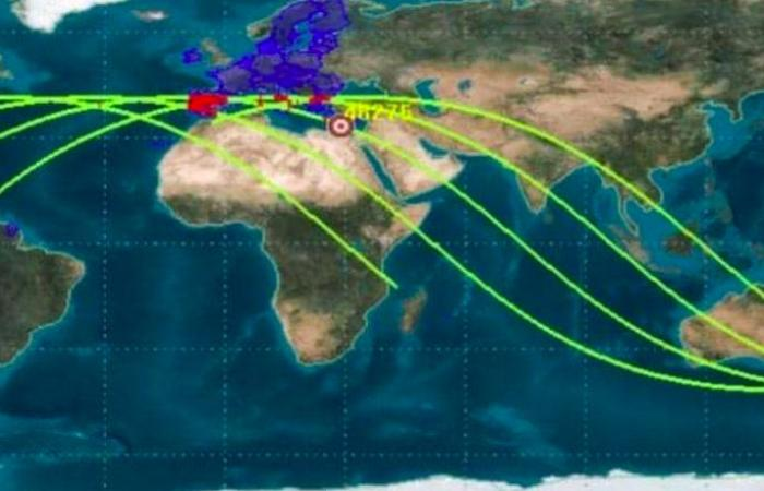 تحديث جديد.. دول البحر المتوسط في مجال سقوط الصاروخ الصيني