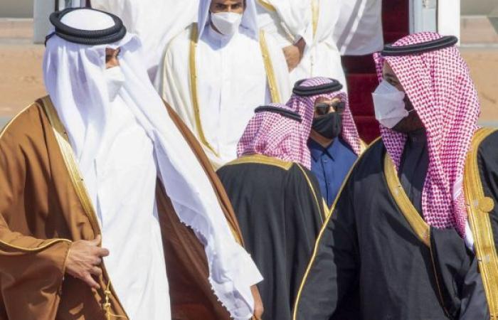 ولي العهد السعودي يستقبل أمير قطر في جدة.. فيديو وصور