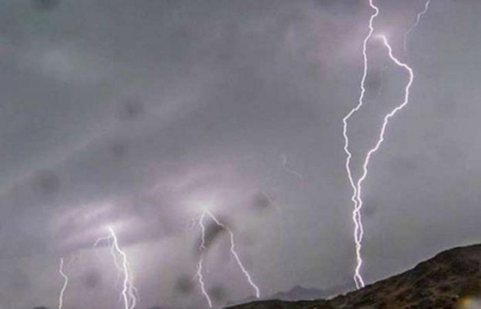 """""""الأرصاد"""": أمطار رعدية على مرتفعات جازان"""