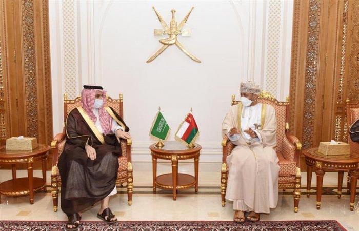 """رسالة شفوية من الملك لـ""""السلطان هيثم"""" نقلها وزير الخارجية"""