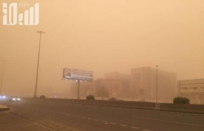 """تنبيه لـ""""مركز الأرصاد"""": أتربة مثارة وغبار على منطقة نجران"""