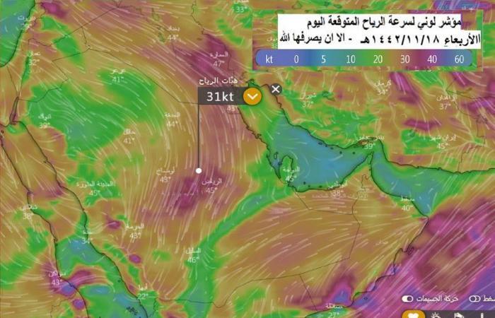 """""""الحصيني"""" عن أجواء الأربعاء: حارة نهاراً وتميل للاعتدال فجراً"""