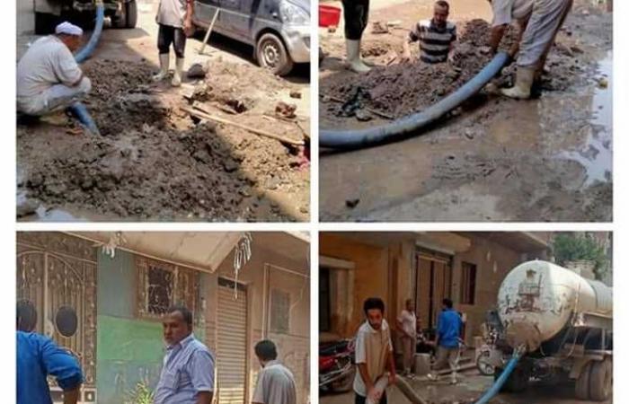 الجيزة: صيانة شبكات مياه الشرب والصرف في حي جنوب والعياط والحوامدية