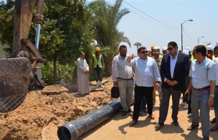 نائب محافظ بني سويف يتابع سير العمل في مشروعات «حياة كريمة»