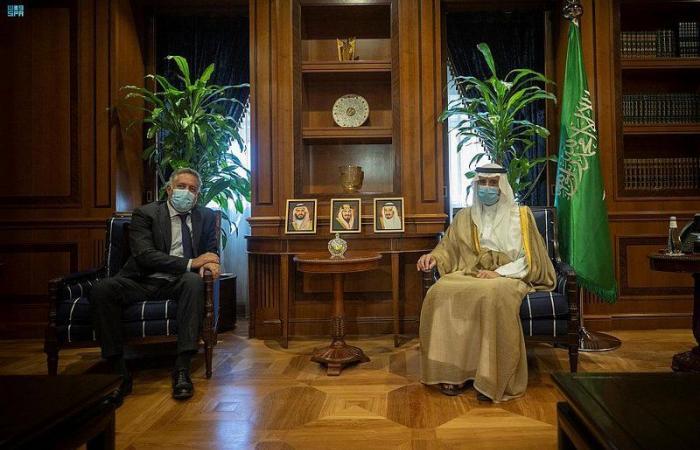 """""""الجبير"""" يستقبل سفير بعثة الاتحاد الأوروبي"""