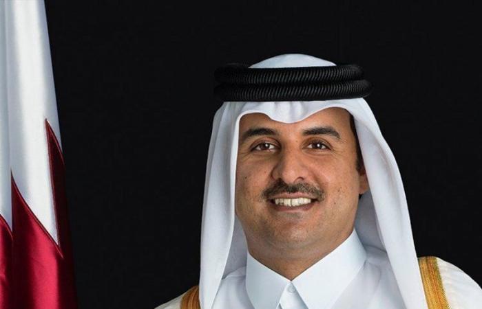 """""""أمير قطر"""" يستقبل وفداً إماراتياً برئاسة """"طحنون بن زايد"""""""