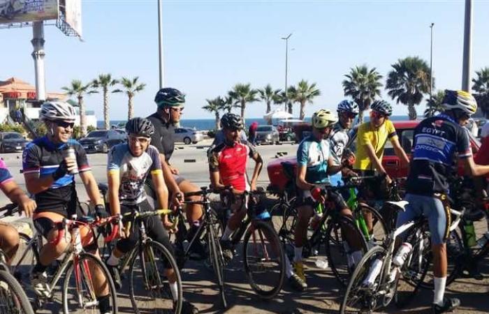 «إسكندرية بتفرح».. ماراثون دراجات هوائية بطول الكورنيش للحفاظ على اللياقة البدنية (صور)
