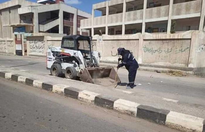 حملة موسعة للنظافة بسيدي غازي في كفر الشيخ